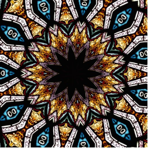 Stained Glass Window Kaleidoscope 4 Acrylic Cut Out