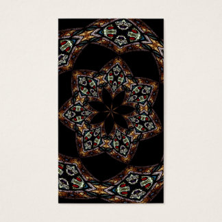 Stained Glass Window Kaleidoscope 5 Business Card