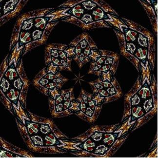 Stained Glass Window Kaleidoscope 5 Cutout