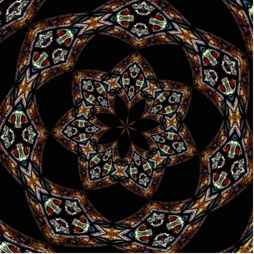 Stained Glass Window Kaleidoscope 5 Photo Cut Outs