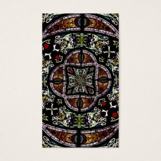 Stained Glass Window Kaleidoscope 6 Business Card
