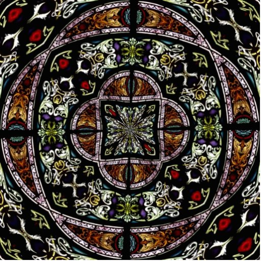 Stained Glass Window Kaleidoscope 6 Acrylic Cut Outs