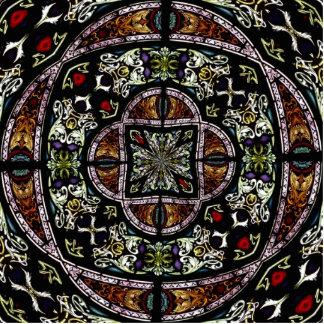 Stained Glass Window Kaleidoscope 6 Statuette