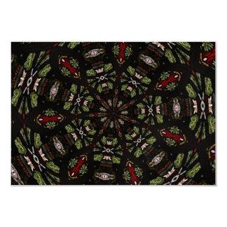 Stained Glass Window Kaleidoscope 7 Card