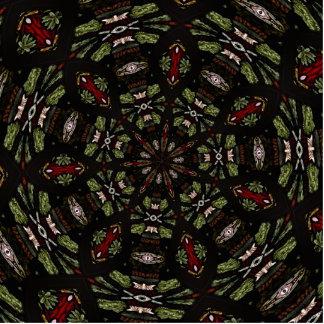 Stained Glass Window Kaleidoscope 7 Cutout