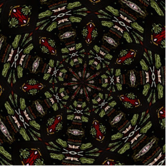Stained Glass Window Kaleidoscope 7 Acrylic Cut Out