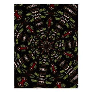 Stained Glass Window Kaleidoscope 7 Postcard