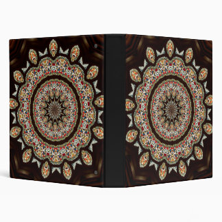 Stained Glass Window Kaleidoscope 8 3 Ring Binder