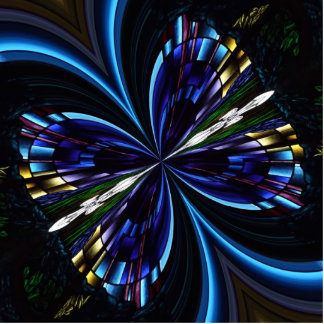 Stained Glass Window Kaleidoscope 9 Cutout