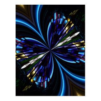 Stained Glass Window Kaleidoscope 9 Postcard