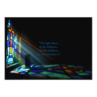 Stained Glass Window Light Through A Church Card