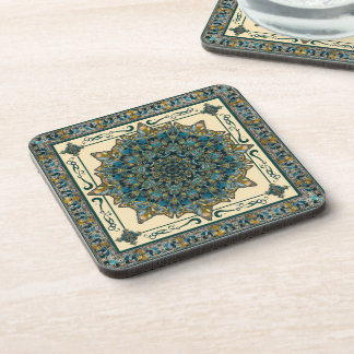 Stained Glass Window Mandala Drinks Coaster