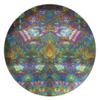 Stained Glass Window Melamine Plate