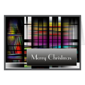 Stained Glass Window Merry Christmas Holiday Card