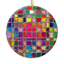 Stained Glass Window Multicolour Pattern Ornament