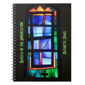 Stained Glass Window, Nazareth, Israel Notebook