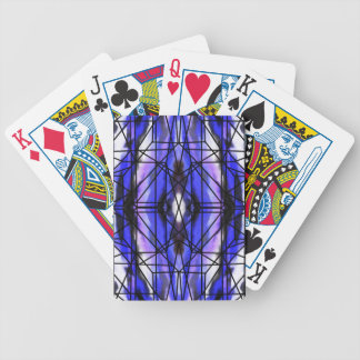 Stained Glass Window of the Sky Bicycle Playing Cards