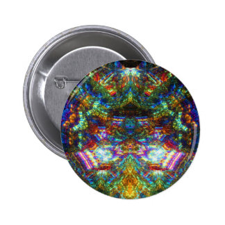 Stained Glass Window Pinback Button