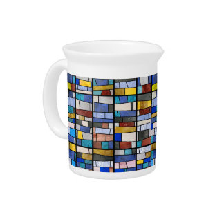 Stained Glass Window Drink Pitcher