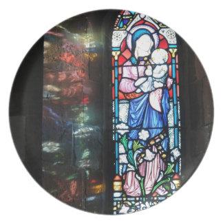 Stained glass window dinner plates