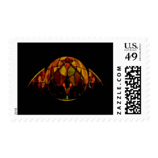 Stained glass window postage stamp
