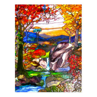 Stained Glass Window Postcard