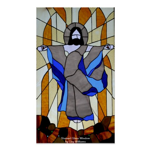 Stained Glass Window Posters