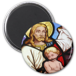 Stained glass window refrigerator magnets