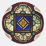 Stained Glass Window Round Sticker