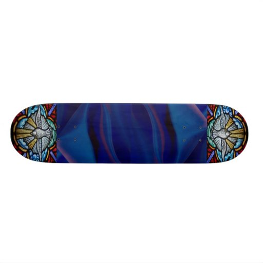 Stained Glass Window Skateboard