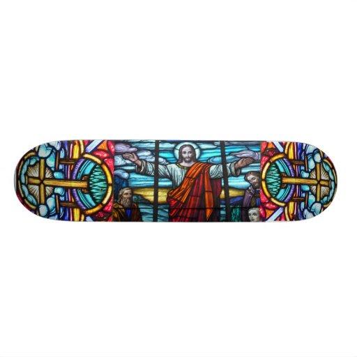 Stained Glass Window Skateboard