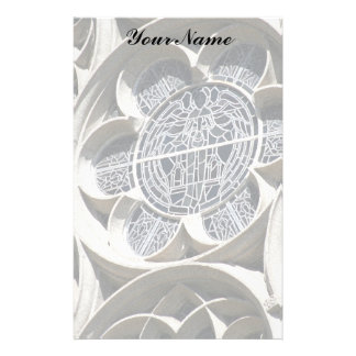 Stained glass window stationery