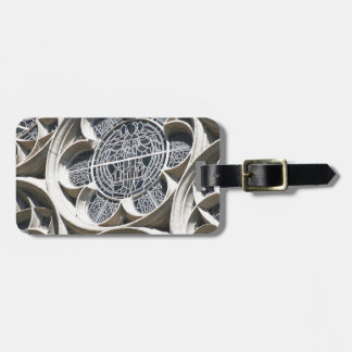 Stained glass window tag for bags