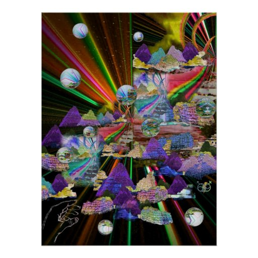 Stained Glass Windows 3-D Posters