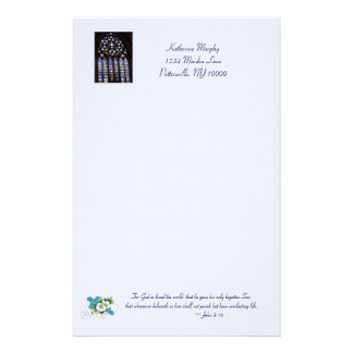 'Stained Glass Windows' Easter Stationery