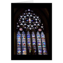 'Stained Glass Windows' Holiday Card - Christmas