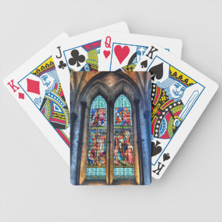 Stained Glass Windows, Salisbury Cathedral, UK Bicycle Playing Cards