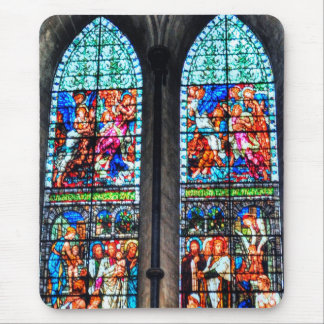Stained Glass Windows, Salisbury Cathedral, UK Mouse Pad