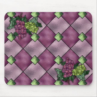 Stained Glass Wine Love Mouse Pad