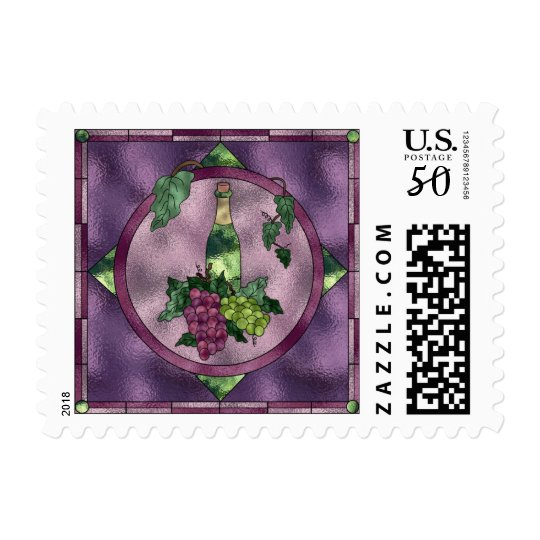 Stained Glass Wine Love Postage