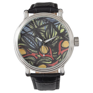 Stained Glass with Fruit Watches