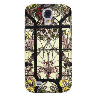 Stained Glass with Peacock and Butterflies Samsung S4 Case