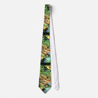 Stained Glass Woods & Stream Tie