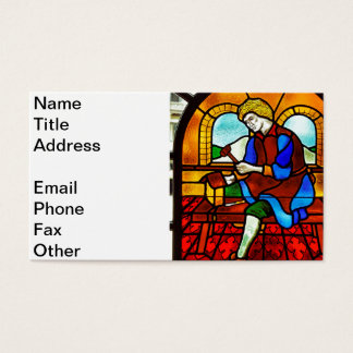 Stained Glass Worker Business Card