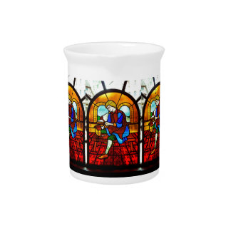 Stained Glass Worker Drink Pitchers