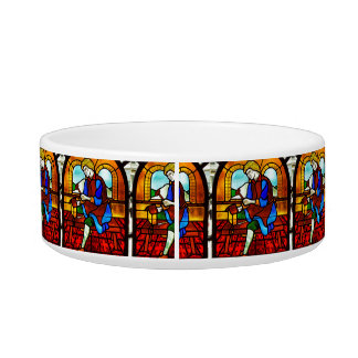 Stained Glass Worker Pet Bowl