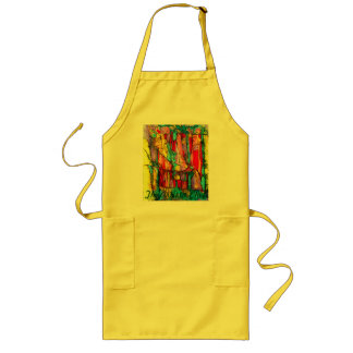 stained glass yellow the artistic chef long apron