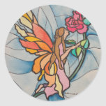 Stained glasssrose fairy stickers