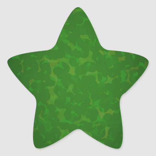 Stained green paper star sticker