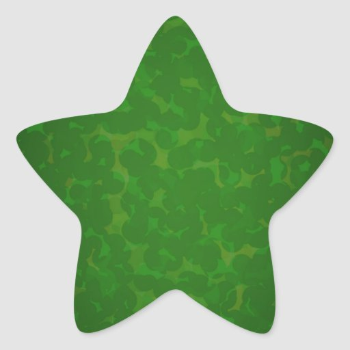 Stained green paper star stickers